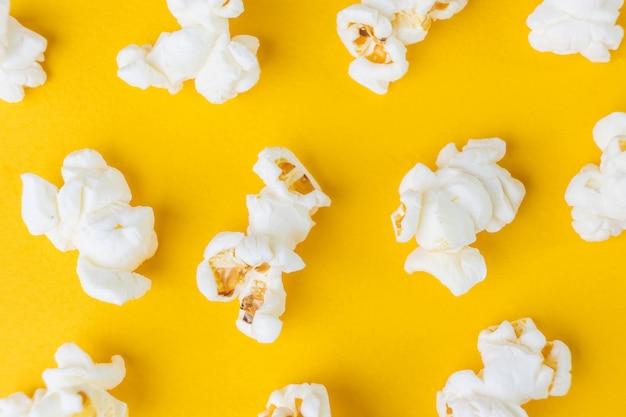 Vista superior de palomitas de maíz