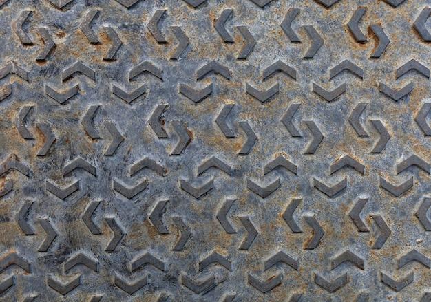 Vista superior del patrón en metal.