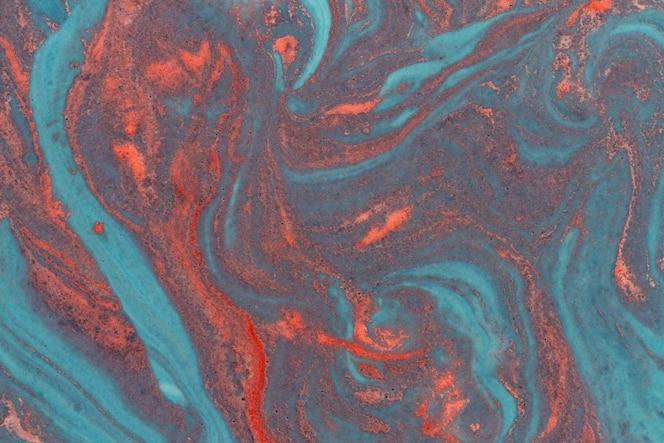 Vista superior pintura acrílica abstracta