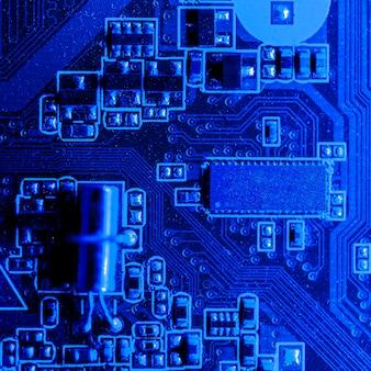 Vista superior de placa de circuito electrónico