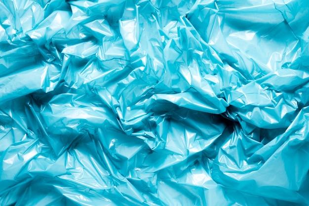 Vista superior de plástico azul