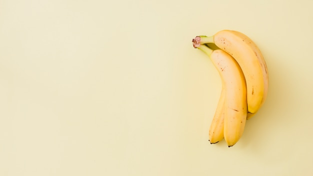 Vista superior plátanos