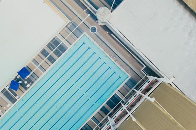Vista superior del polideportivo