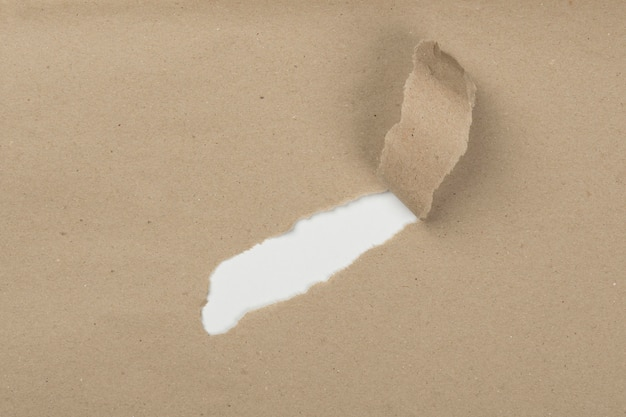 Vista superior rasguño de papel