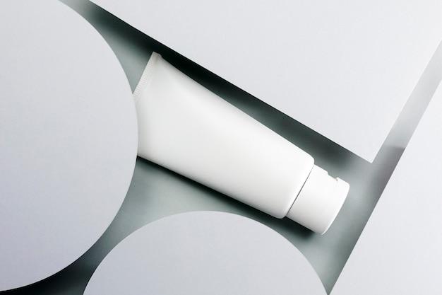 Vista superior del recipiente de mantequilla corporal