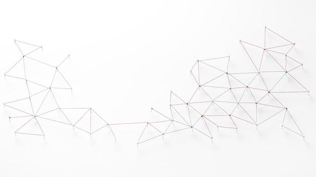 Vista superior de la red de comunicación de internet con espacio de copia