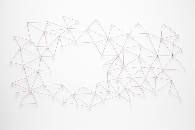 Vista superior de la red de comunicación de internet