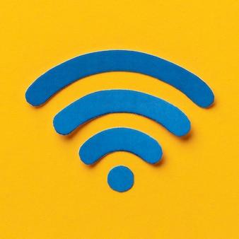 Vista superior del símbolo de wi-fi