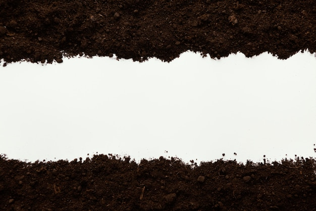 Vista superior del suelo natural