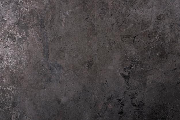 Vista superior de la superficie de metal