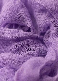 Vista superior de textil monocromático.