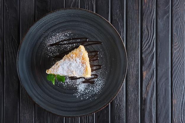Vista superior de la torta de napoleón