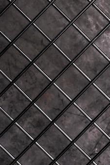 Vista superior de la valla de alambre