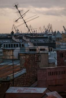 Vista de los tejados de san petersburgo