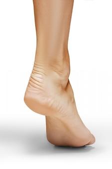 Vista trasera del pie de mujer
