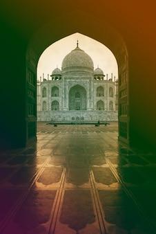 Vista del túnel del palacio de la india