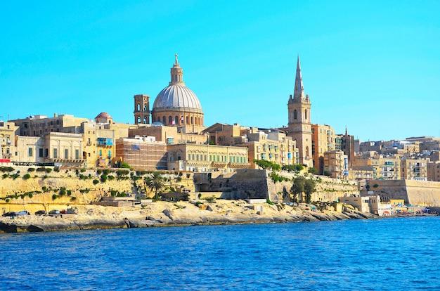 Vista de la valeta, la capital de malta