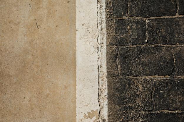 Vista del viejo muro de piedra