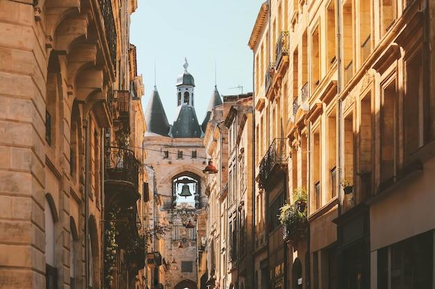 Vista de los viejos edificios altos