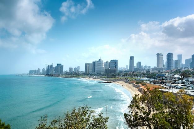 Vistas a la costa de tel aviv