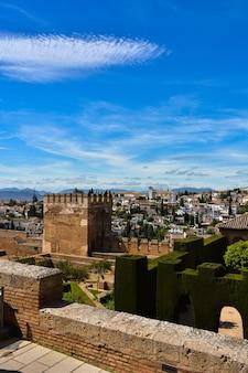 Vistas del paisaje que rodea la alhambra de granada.