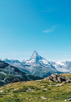 Vistas del pico matterhorn en zermatt, suiza.