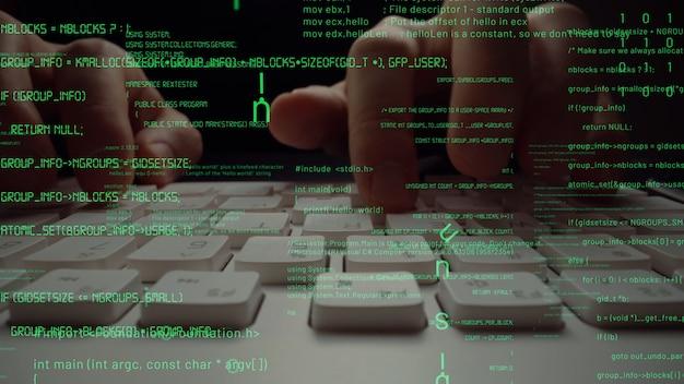 Visual creativo de codificación de programación informática y desarrollo de software.