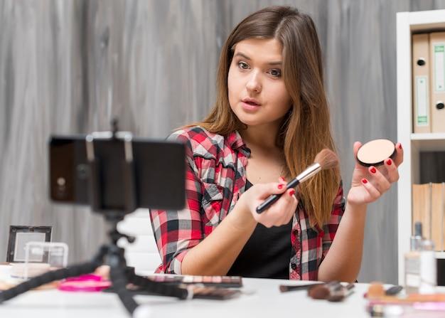 Vlogger de maquillaje