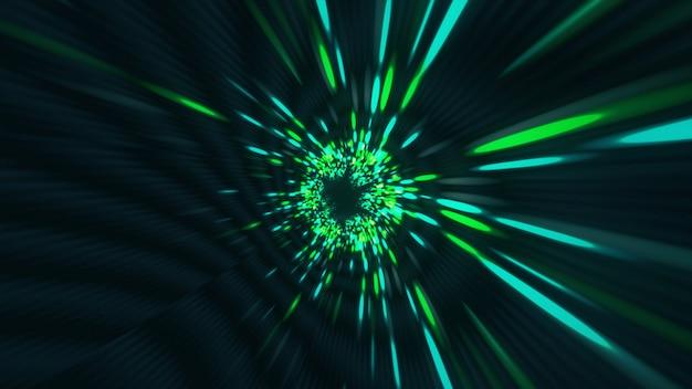 Vortex túnel hiperespacial agujero de gusano tiempo y espacio, warp ciencia ficción fondo 3d