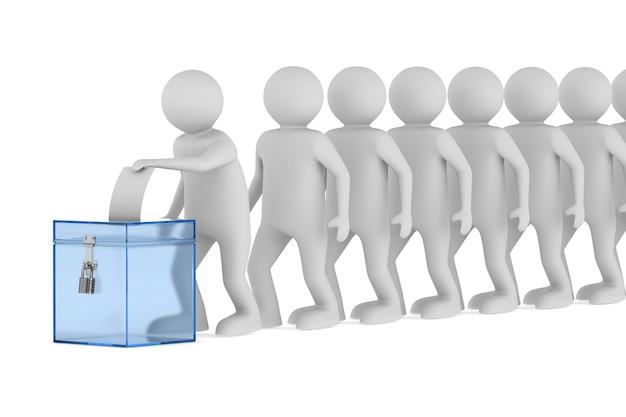 Votación. representación 3d aislada