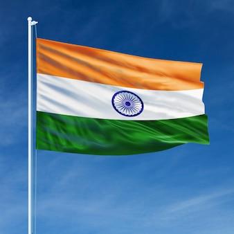 Vuelo de la bandera de india