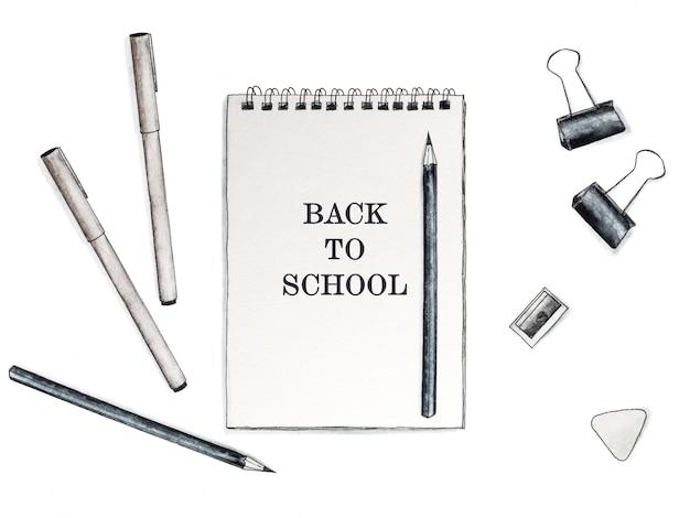 De vuelta a la escuela. bello dibujo. de cerca