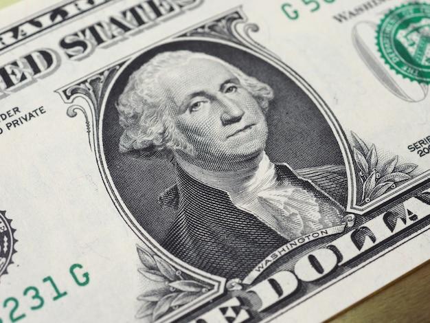 Washington en billete de 1 dólar, estados unidos