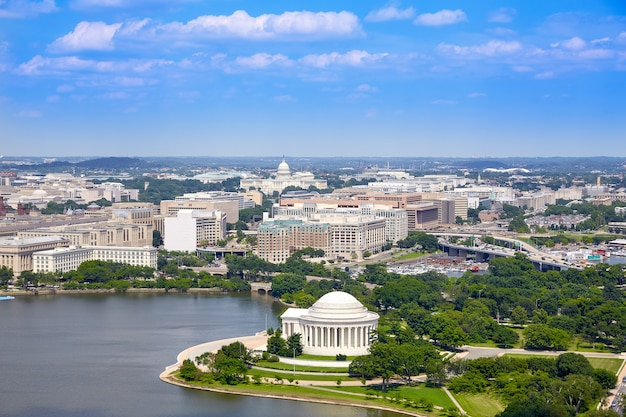 Washington dc antena thomas jefferson memorial