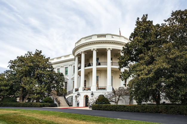 Washington dc, estados unidos - 01 de abril de 2016: la casa blanca en washington dc, estados unidos