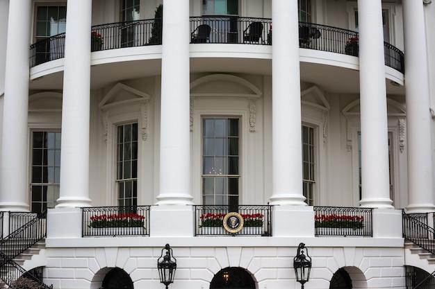 Washington dc, estados unidos - 31 de marzo de 2016: la casa blanca en washington dc, estados unidos