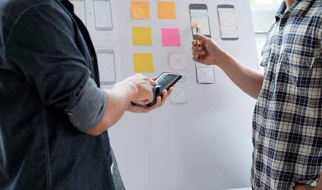 Web diseñador de la aplicación de planificación para el teléfono móvil