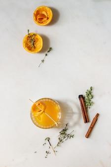 Whisky cóctel de naranja