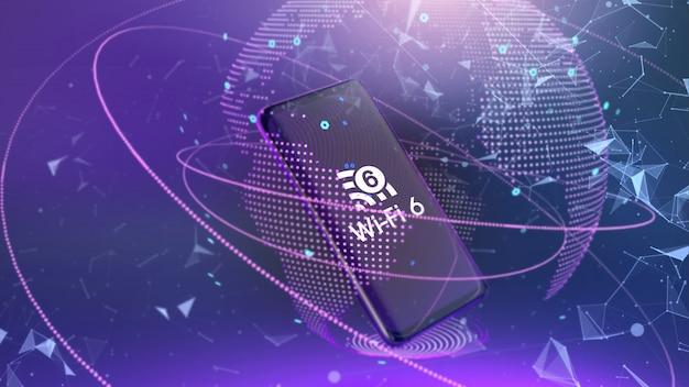 Wi fi 6 telecomunicaciones conectividad de red de nueva generación