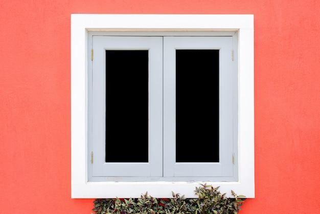Windows de casas de estilo europeo.