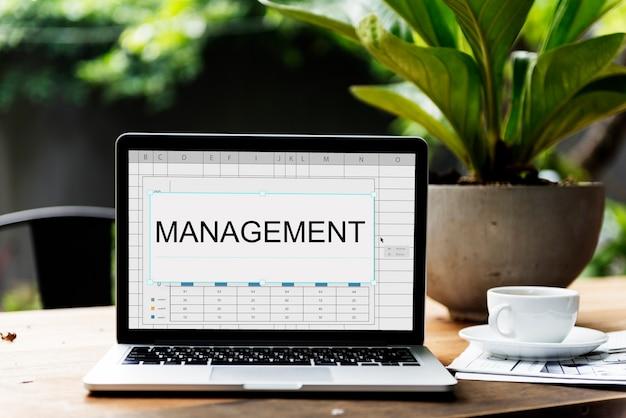 Word de hoja de cálculo de gestión de resumen de rendimiento