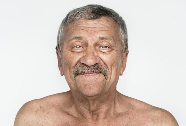 Worldface-hombre americano en un fondo blanco