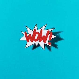 Wow fondo vintage en estilo cómic retro del arte pop