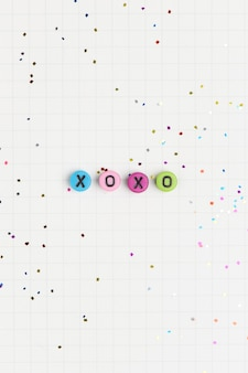 Xoxo alfabeto letra perlas tipografía