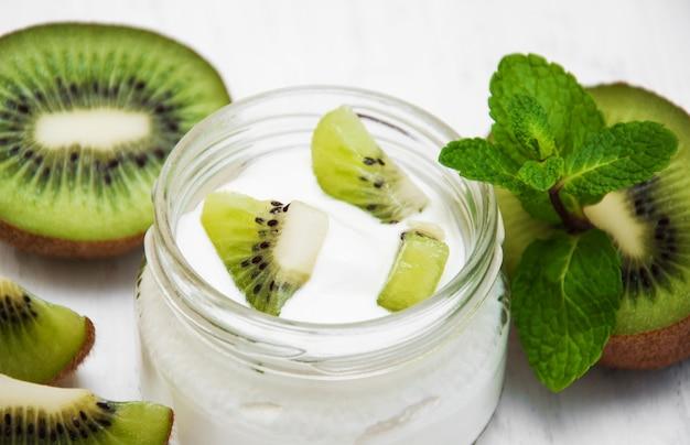 Yogur de kiwi