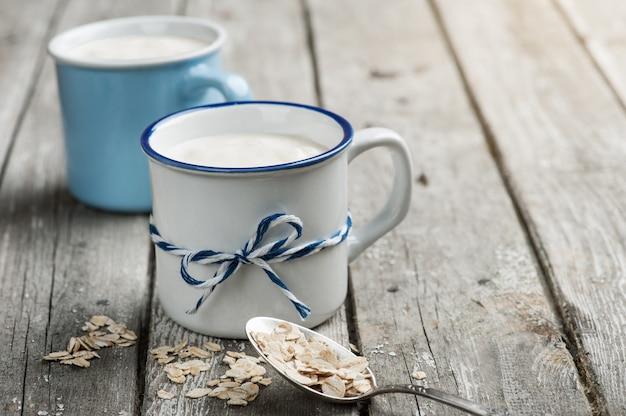 Yogur muesli con avena