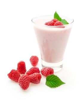 Yogurt con frambuesas