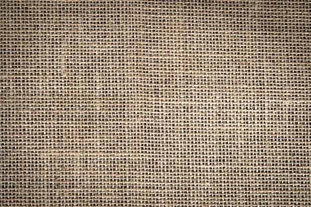 Yute marrón textil para texure y fondo