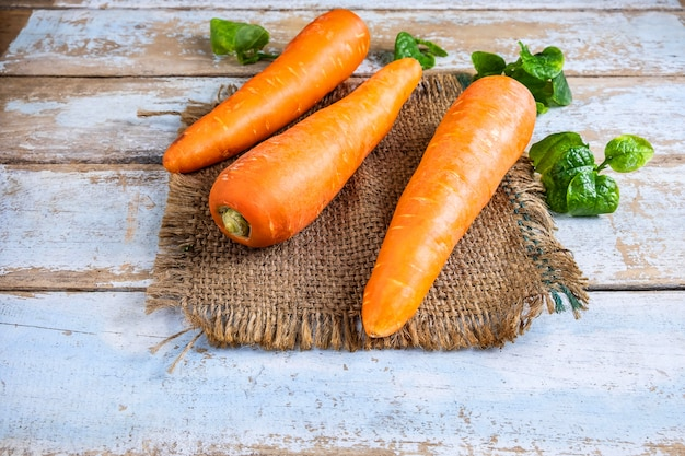 Zanahorias para vegetales saludables.