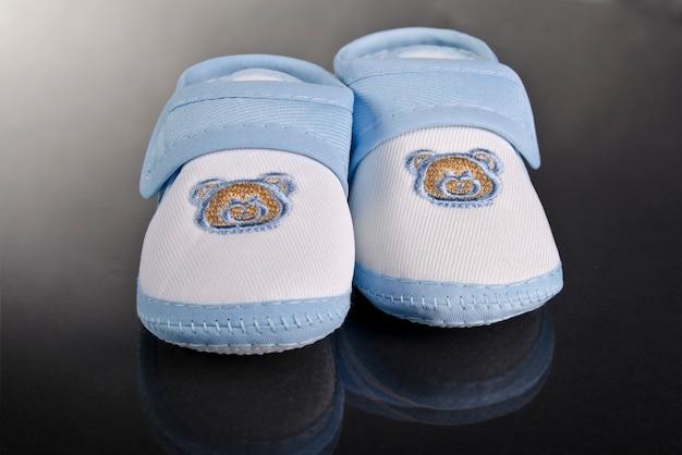 Zapatilla bebe niño azul